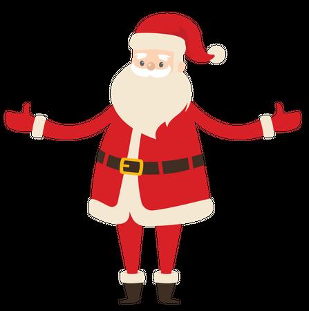 Santa sprading his arms Illustration