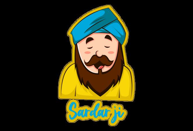 Sardar ji Illustration