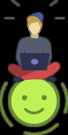 Satisfied user Illustration