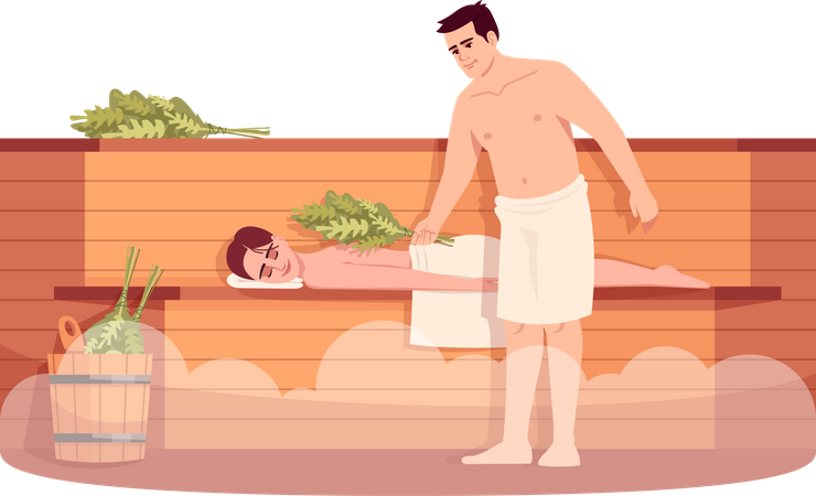 Sauna lounge Illustration