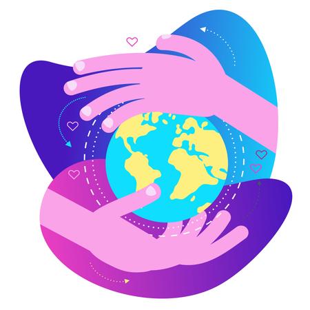 Save earth Illustration