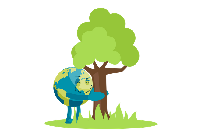 Save environment and save tree Illustration
