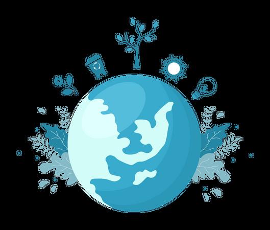 Save Planet Illustration