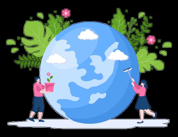 Save Planet Earth Illustration