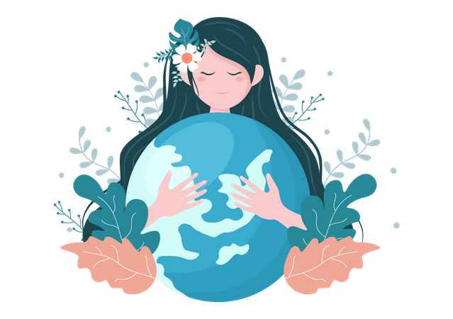 Save The Planet Earth Illustration