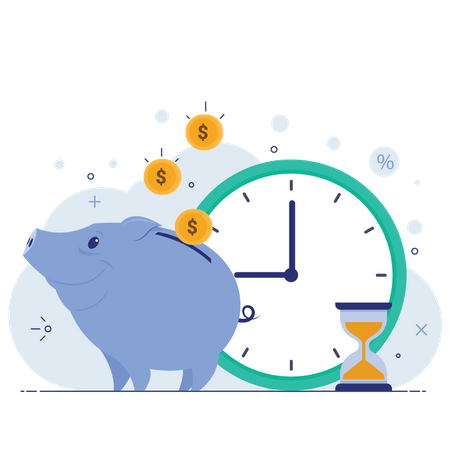 Save time and money Illustration