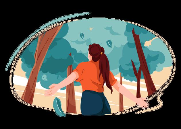 Save trees Illustration
