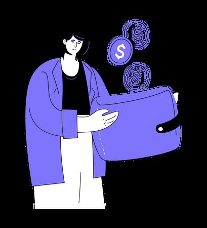 Saving money Illustration