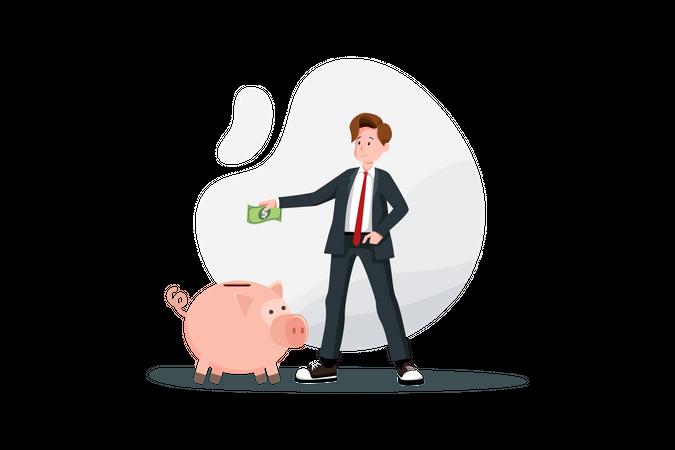 Savings money concept Illustration