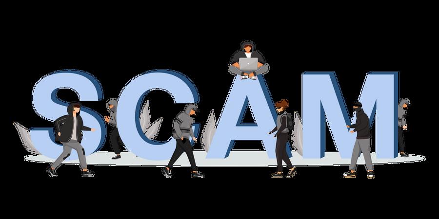 Scam Illustration