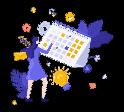 Schedule management Illustration