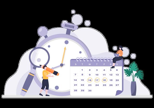 Schedule Planning Illustration