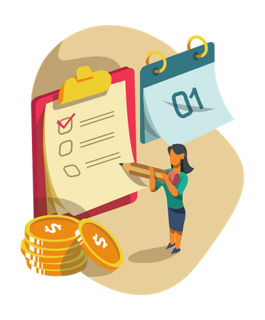 Schedule salary payment Illustration