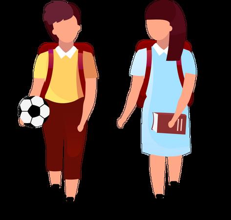 School friends Illustration