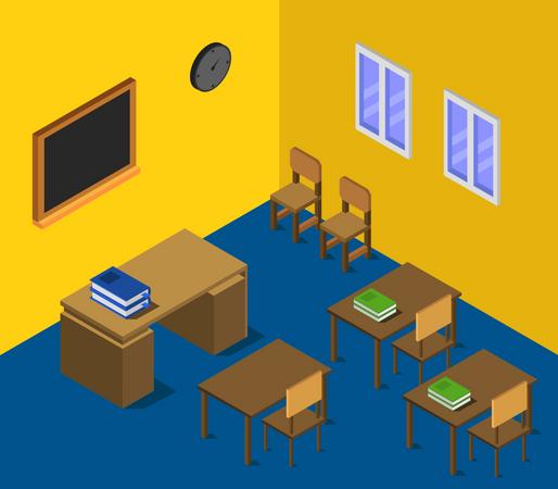 School hall Illustration