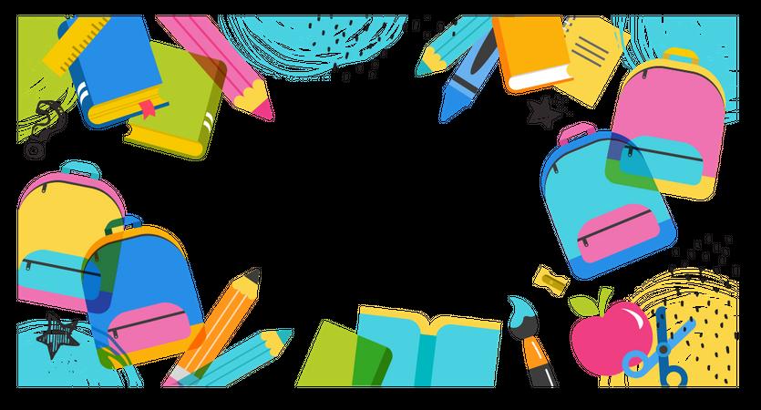 School kit Illustration