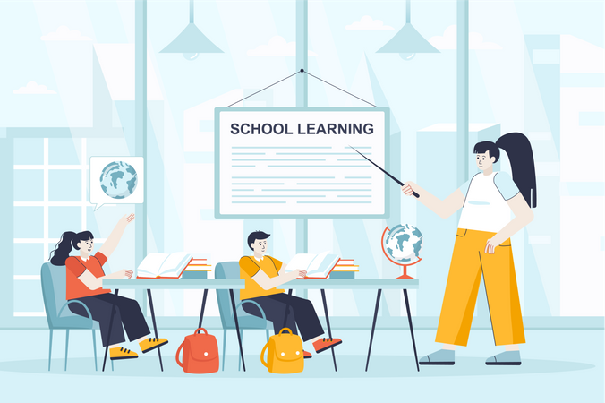 School learning Illustration