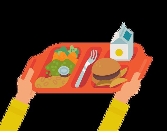School lunch Illustration