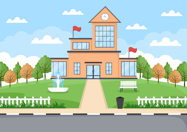 School structure Illustration