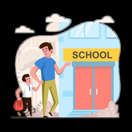Schooling Illustration