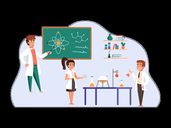 Science Class Illustration