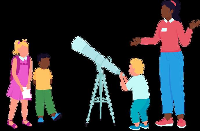 Science lesson Illustration