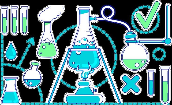 Scientific experiment Illustration