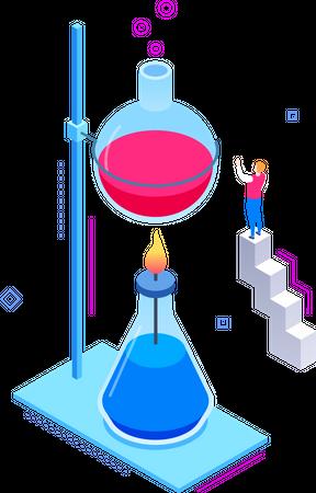 Scientific experiments Illustration