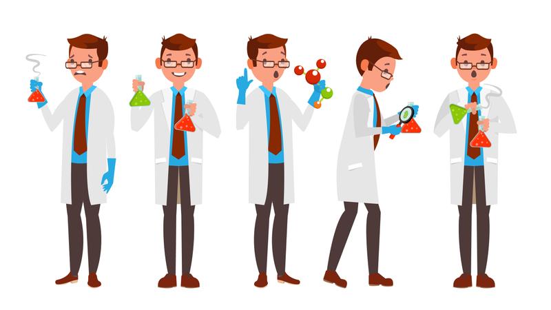 Scientist Character Illustration