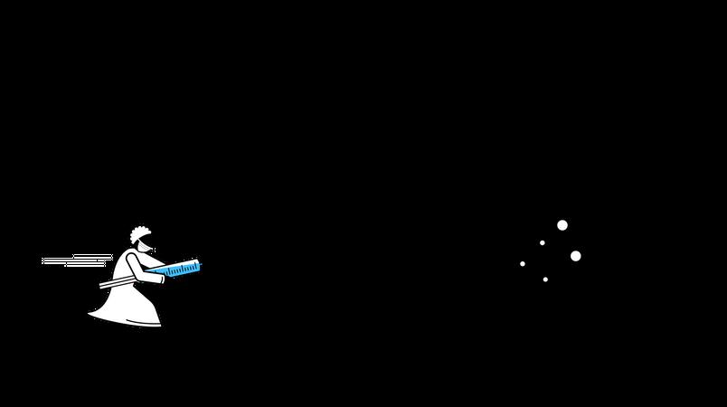 Scientist create vaccine for coronavirus Covid-19 Illustration