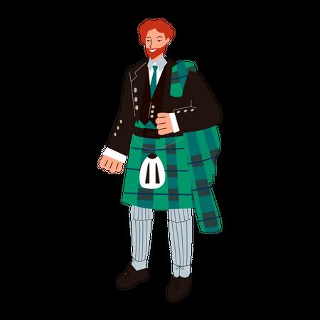 Scottish man Illustration