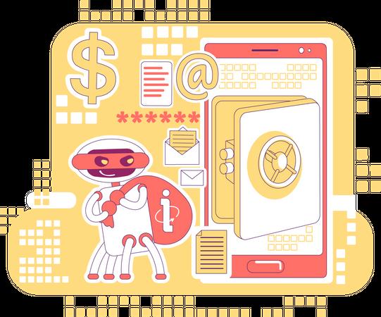 Scraper bot Illustration