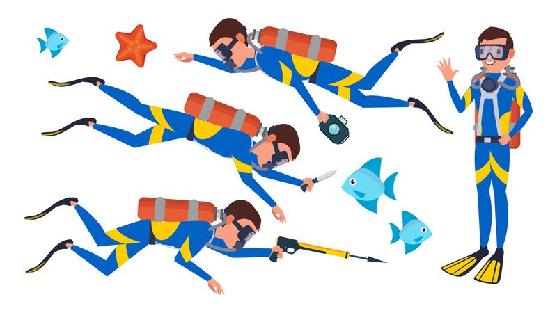 Scuba Diver Illustration
