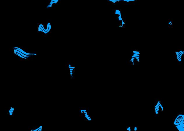 Sea creatures Pattern Illustration