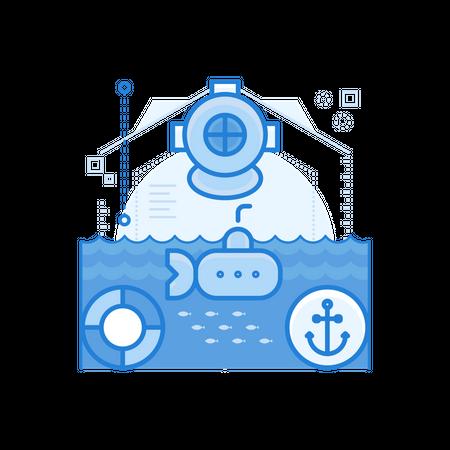 Sea Exploration Illustration