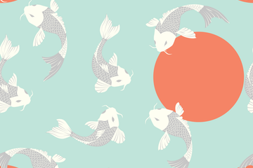 Koi Fish - Illustrations And Patterns Stock Images