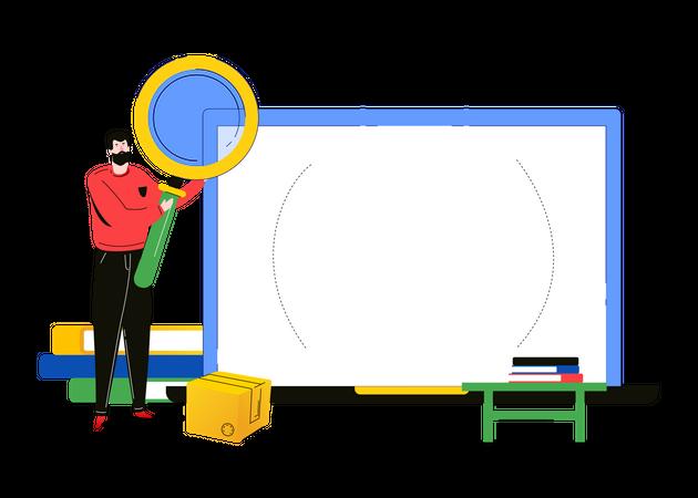 Search concept Illustration