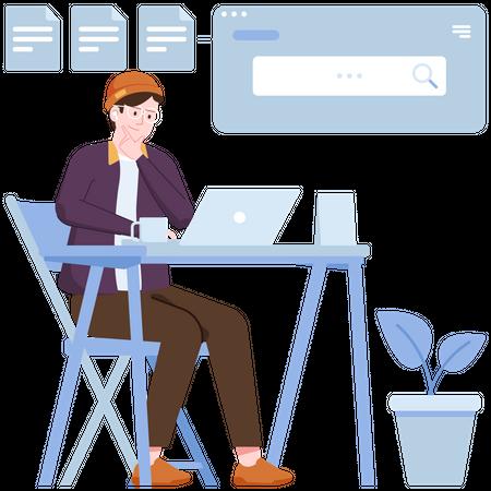 Search Data Illustration