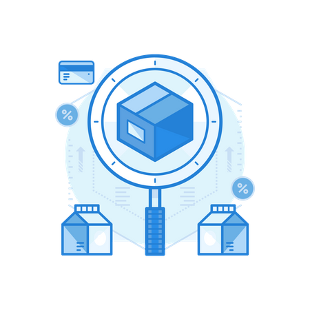 Search Delivered Product Illustration