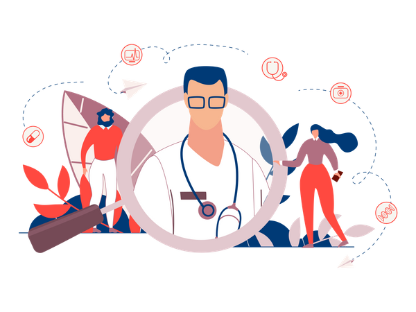 Search Doctor Illustration