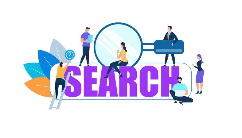 Search information and data Illustration