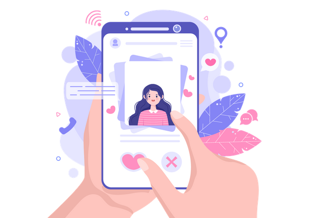 Searching for girlfriend Illustration