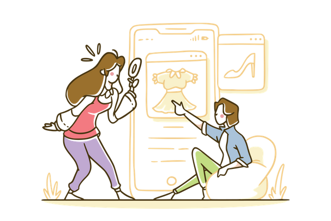 Searching your items Illustration