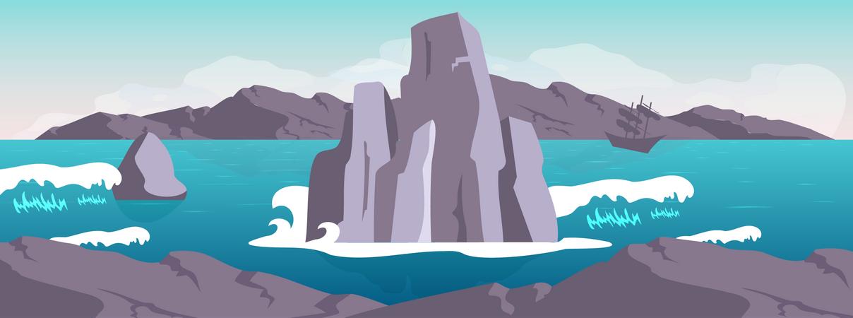 Seascape Illustration