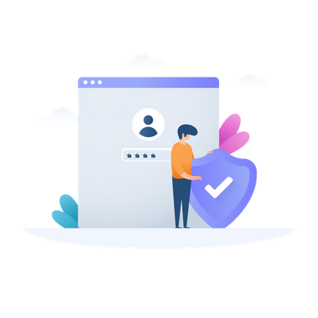Secure Account Illustration