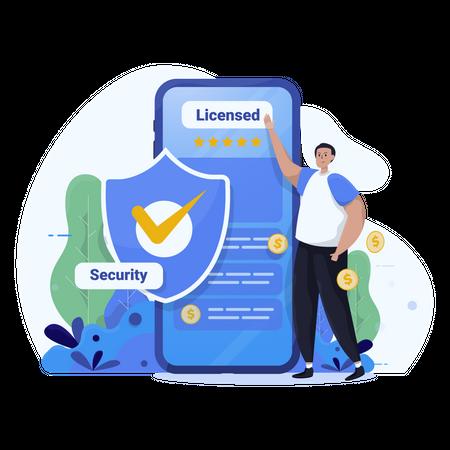Secure application Illustration