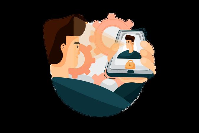 Secure Bank Profile Illustration