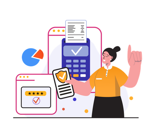 Secure card payment Illustration