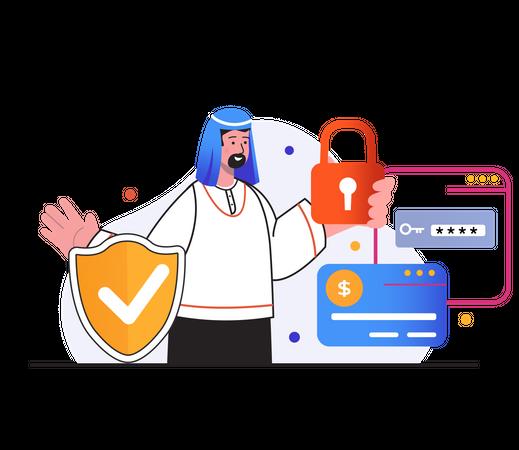 Secure card transaction Illustration