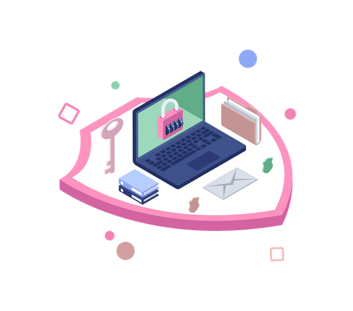 Secure data Illustration